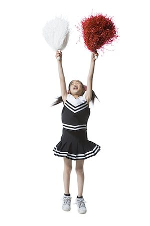 Cheerleader with pom-poms Stock Photo - Premium Royalty-Free, Code: 640-01364339