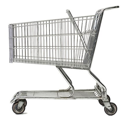 empty shopping cart - Close-up of an empty shopping cart Stock Photo - Premium Royalty-Free, Code: 640-01366586