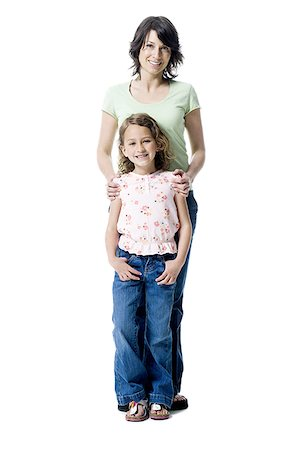 preteen thong - Portrait of a girl standing with her mother Stock Photo - Premium Royalty-Free, Code: 640-01361473