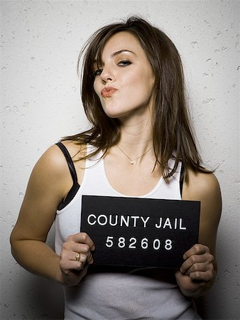 Mug shot of sexy woman Stock Photo - Premium Royalty-Free, Code: 640-01362632