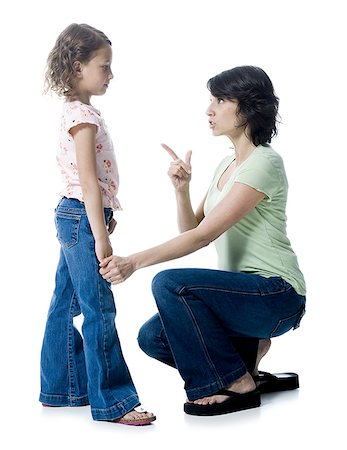 preteen thong - Close-up of a mid adult woman scolding her daughter Stock Photo - Premium Royalty-Free, Code: 640-01363258