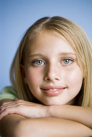 preteen  smile  one  alone - Closeup of girl smiling Stock Photo - Premium Royalty-Free, Code: 640-01601726