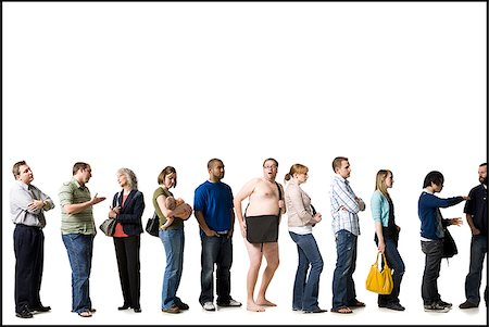 waiting in line Stock Photo - Premium Royalty-Free, Code: 640-02655864