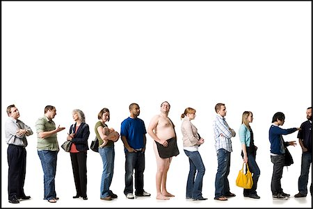 waiting in line Stock Photo - Premium Royalty-Free, Code: 640-02655863