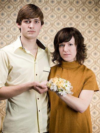 retro young couple Stock Photo - Premium Royalty-Free, Code: 640-02658405