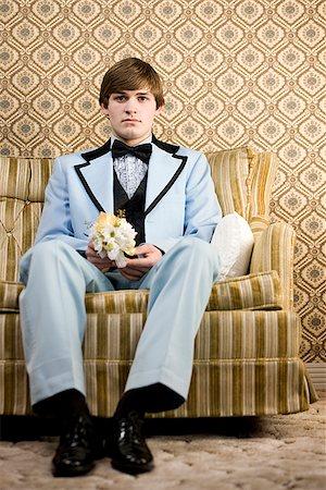 man in retro clothing Stock Photo - Premium Royalty-Free, Code: 640-02658425