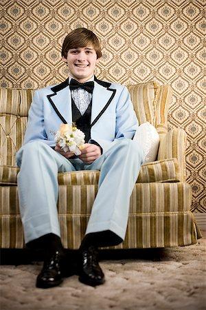 man in retro clothing Stock Photo - Premium Royalty-Free, Code: 640-02658426