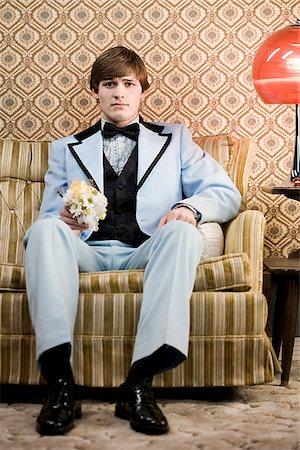 man in retro clothing Stock Photo - Premium Royalty-Free, Code: 640-02658422