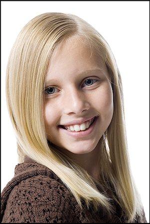 preteen  smile  one  alone - Smiling girl Stock Photo - Premium Royalty-Free, Code: 640-02769041