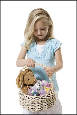 Girl holding Easter basket Stock Photo - Premium Royalty-Free, Code: 640-02769348