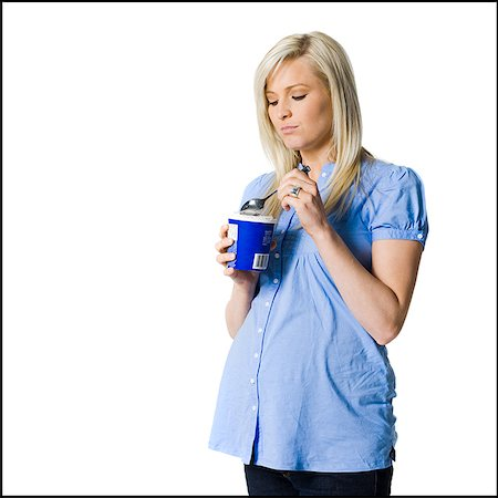 families eating ice cream - pregnant woman Stock Photo - Premium Royalty-Free, Code: 640-02779151