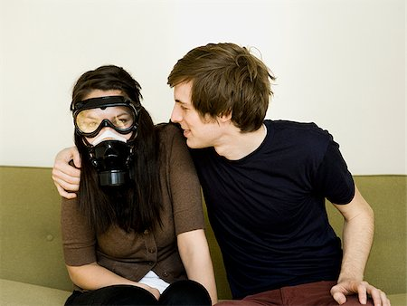 smelly - young couple Stock Photo - Premium Royalty-Free, Code: 640-02779514