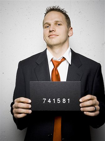 Mug shot of businessman Stock Photo - Premium Royalty-Free, Code: 640-02771003