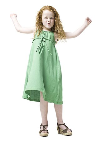girl in a green dress Stock Photo - Premium Royalty-Free, Code: 640-02948000