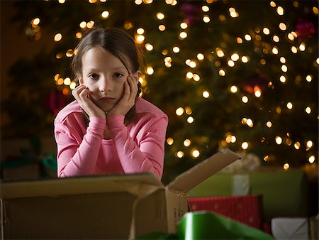 sad girls - girl at christmas Stock Photo - Premium Royalty-Free, Code: 640-02949367