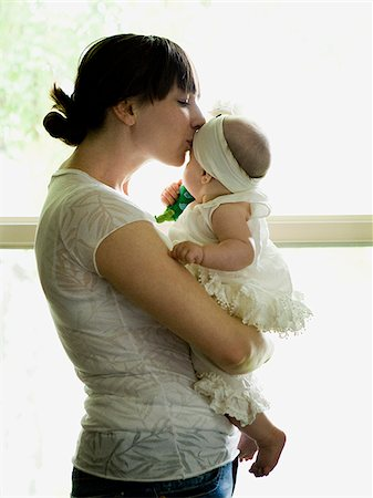 mother and baby girl Stock Photo - Premium Royalty-Free, Code: 640-02950234