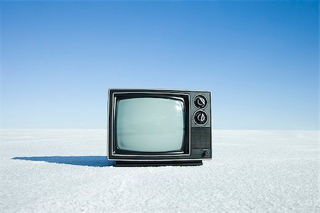 television in the middle of nowhere Stock Photo - Premium Royalty-Free, Code: 640-02950535