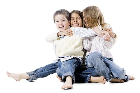 little brother with two sisters Stock Photo - Premium Royalty-Free, Code: 640-02951090