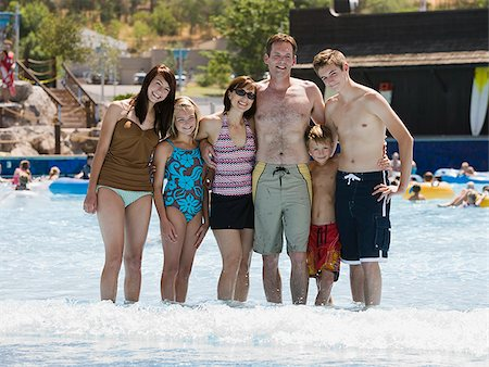 family at a water park Stock Photo - Premium Royalty-Free, Code: 640-02951474