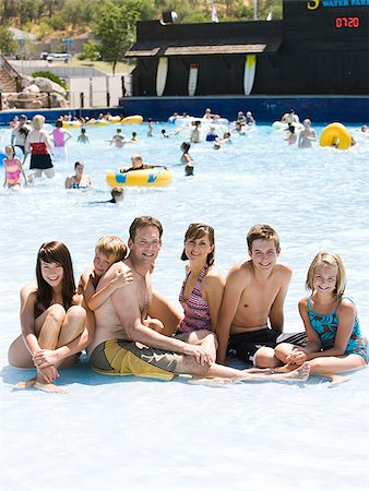 family at a water park Stock Photo - Premium Royalty-Free, Code: 640-02951479