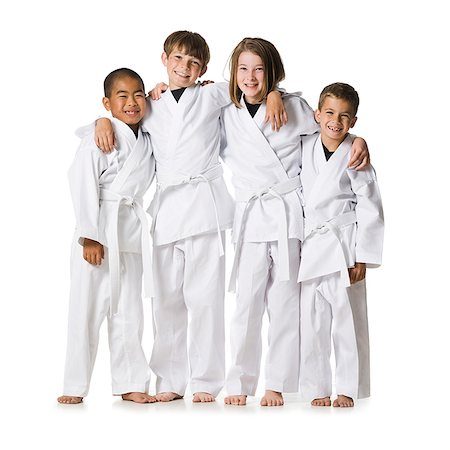 youth practicing martial arts Stock Photo - Premium Royalty-Free, Code: 640-02952057