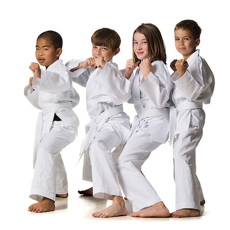 youth practicing martial arts Stock Photo - Premium Royalty-Free, Code: 640-02952058