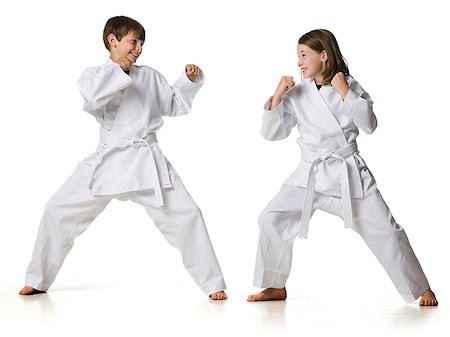 youth practicing martial arts Stock Photo - Premium Royalty-Free, Code: 640-02952059