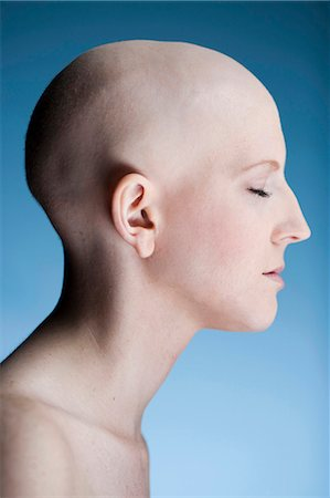 Bald woman Stock Photo - Premium Royalty-Free, Code: 640-03256089