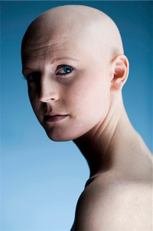 Bald woman Stock Photo - Premium Royalty-Free, Code: 640-03256090