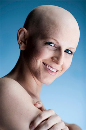 Bald woman Stock Photo - Premium Royalty-Free, Code: 640-03256091