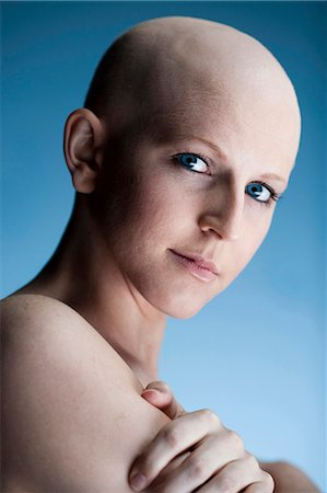 Bald woman Stock Photo - Premium Royalty-Free, Code: 640-03256092