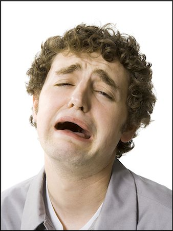 people in panic - Man crying out in distress Stock Photo - Premium Royalty-Free, Code: 640-03258085