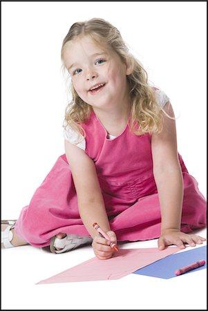 Girl coloring Stock Photo - Premium Royalty-Free, Code: 640-03258960