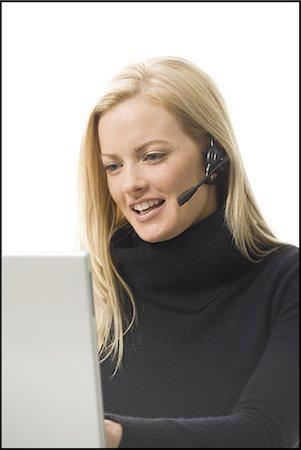 Woman on a laptop Stock Photo - Premium Royalty-Free, Code: 640-03264051