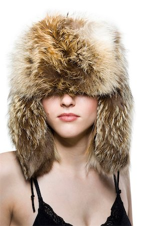 fur - Woman with fur hat Stock Photo - Premium Royalty-Free, Code: 640-03264613
