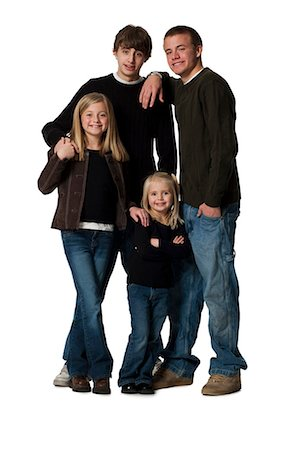 Family posing for portrait Stock Photo - Premium Royalty-Free, Code: 640-03265095