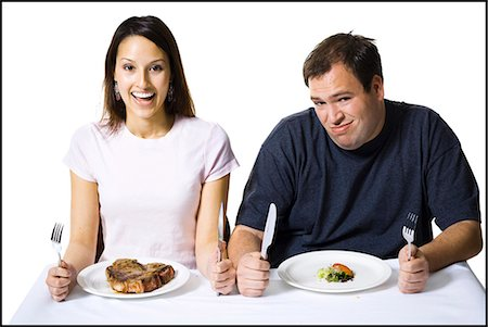 Couple eating lunch Stock Photo - Premium Royalty-Free, Code: 640-03265144