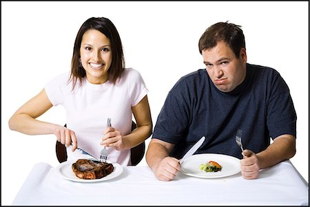 Couple eating lunch Stock Photo - Premium Royalty-Free, Code: 640-03265143
