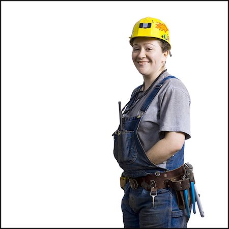 planner - Female construction worker with hardhat Stock Photo - Premium Royalty-Free, Code: 640-03265270