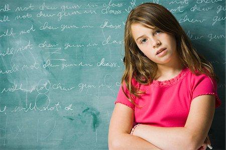 sad girls - Sad girl in classroom Stock Photo - Premium Royalty-Free, Code: 640-03260509