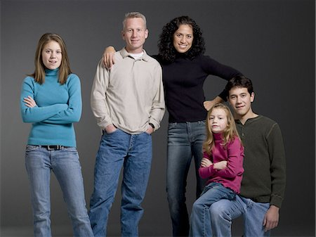 Portrait of a family Stock Photo - Premium Royalty-Free, Code: 640-03262049