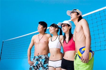 beach volleyball players Stock Photo - Premium Royalty-Free, Code: 642-02006752