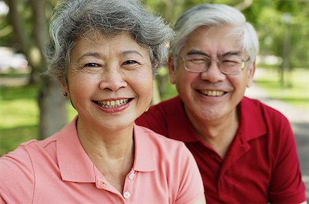 Mature couple, looking at camera, smiling Stock Photo - Premium Royalty-Free, Code: 656-01767775
