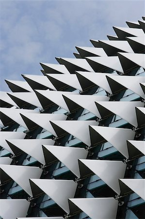 spike - Close up of Esplanade Theater roof,Singapore. Stock Photo - Premium Royalty-Free, Code: 656-03076293