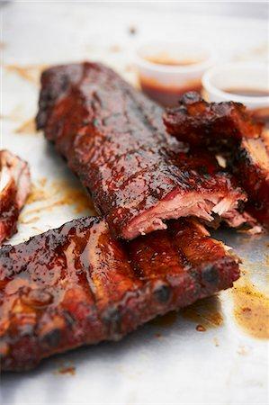 rib - Grilled pork ribs Stock Photo - Premium Royalty-Free, Code: 659-06154034