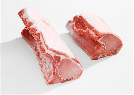 rib - Pork loin for chops Stock Photo - Premium Royalty-Free, Code: 659-06155823