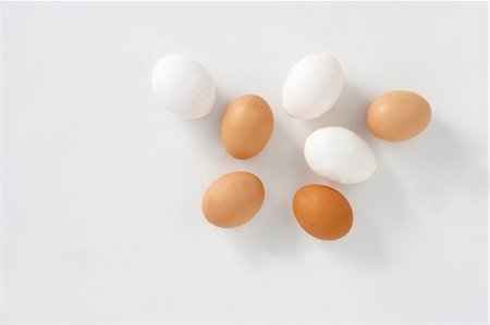 White and brown eggs Stock Photo - Premium Royalty-Free, Code: 659-06151879