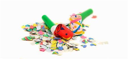 Party blowers and confetti Stock Photo - Premium Royalty-Free, Code: 659-06152639