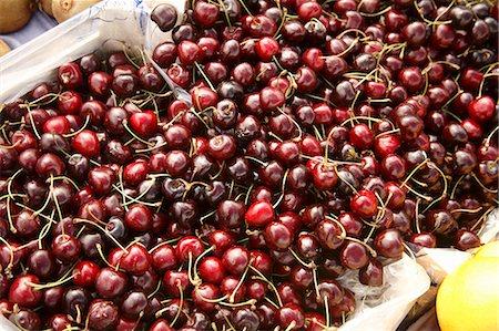 Dark Cherries at Farmer's Market in Bantry, Ireland Stock Photo - Premium Royalty-Free, Code: 659-06152973