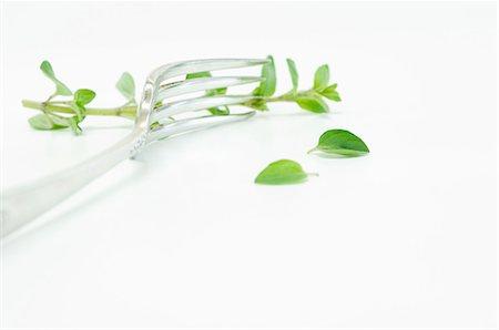 fork - Fresh oregano with a fork Stock Photo - Premium Royalty-Free, Code: 659-06153610
